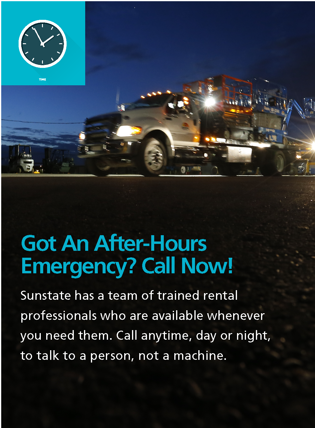 Sunstate Equipment 24-hour service support