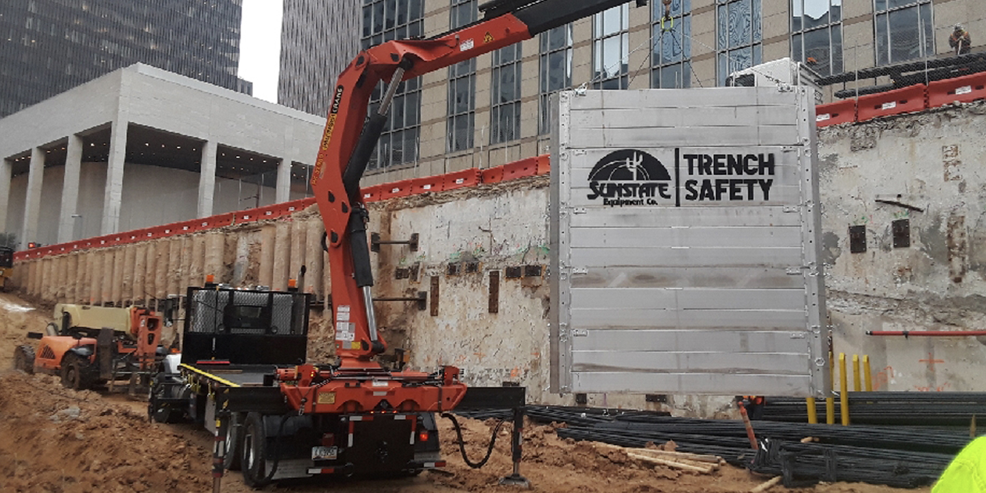 Trench installation - crane delivery